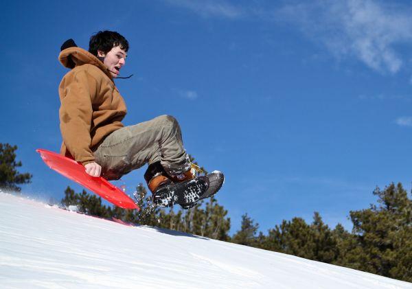 Mark Pedri Sledding Jump