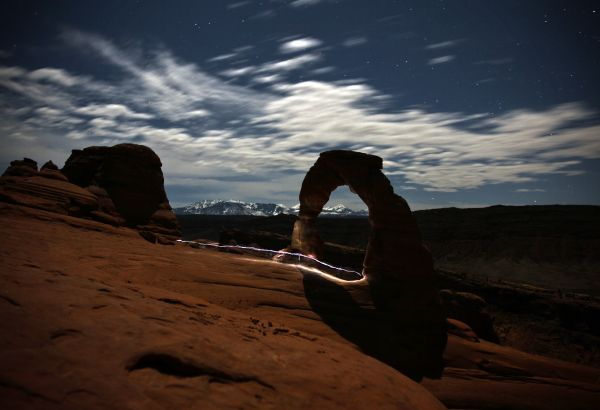 Night Hike Arches National Park Delicate Arch