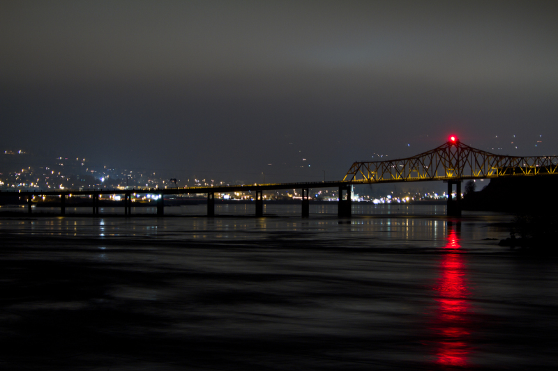 Oregon, Dam, Columbia River, Hydro, night, water,
