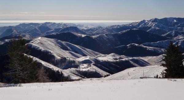 Sun Valley Idaho Ski Saw Tooth Mountains Snow