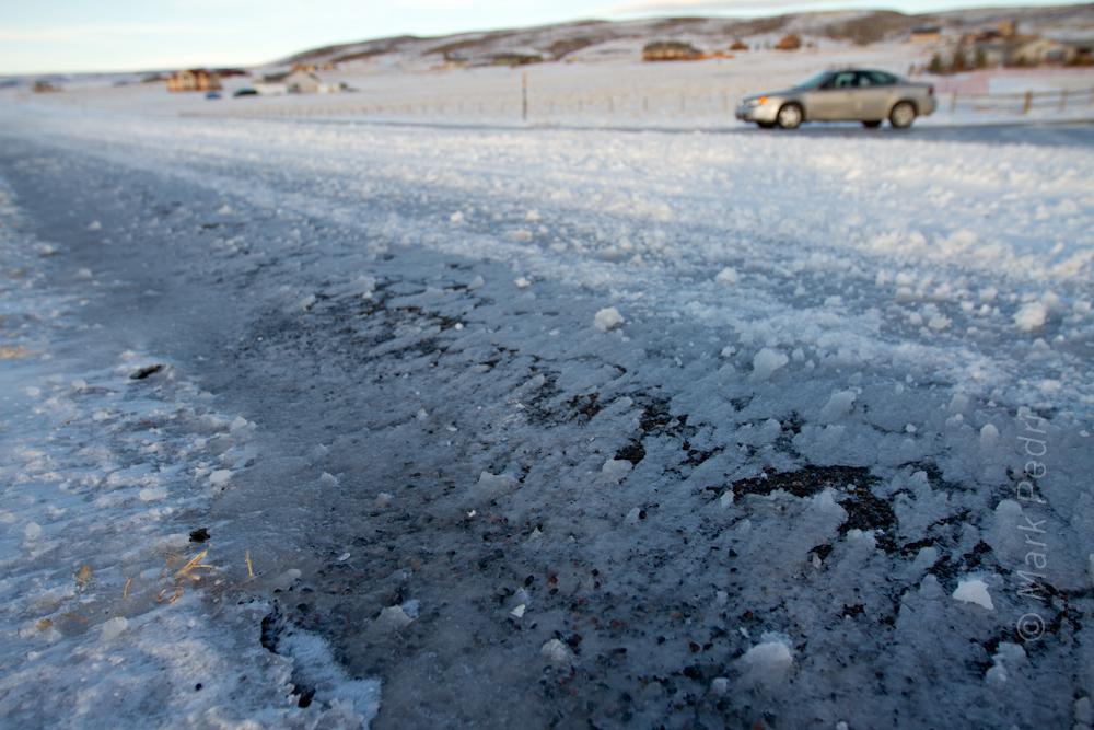 Grand Am Wyoming Laramie Snow Winter Road