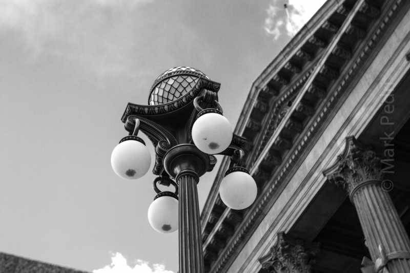 Boise, Idaho, Light, Capital, Light, Street, B&W