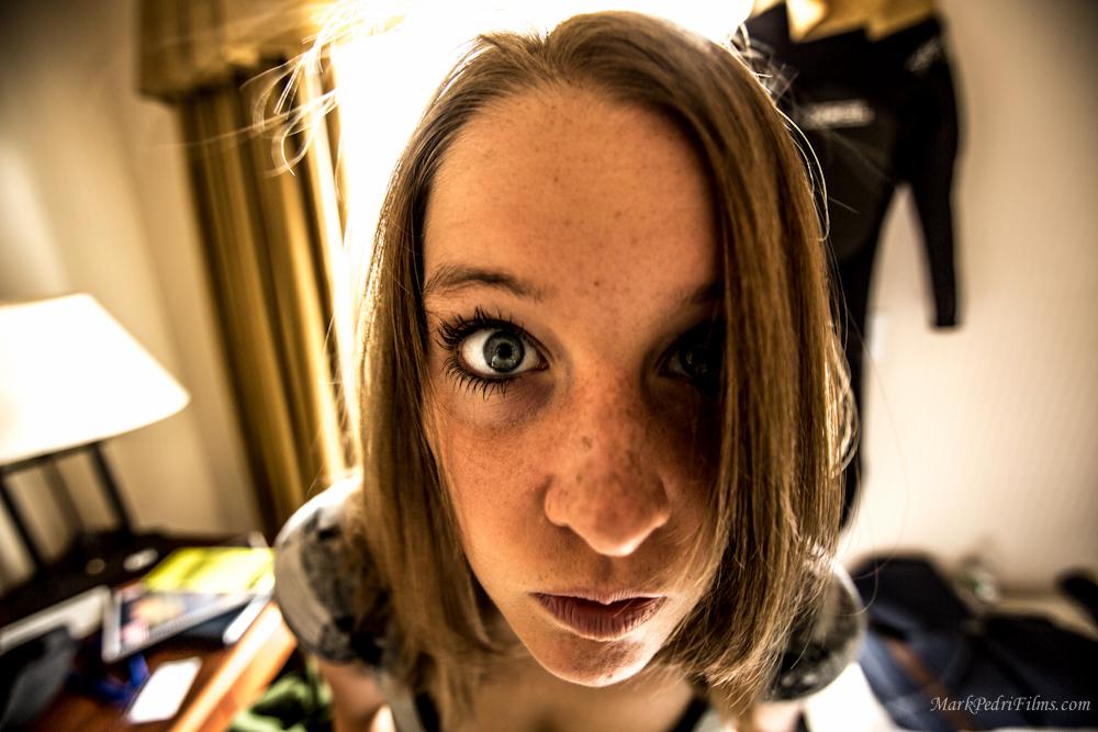 Carrie McCarthy eyes Blue BW