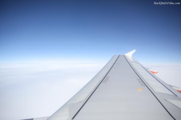 Plane, Pacific ocean, flying, sky, clouds