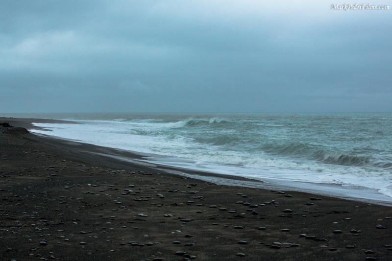 Black Sand Beach, Ocean, NZ