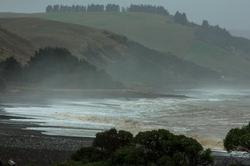 New Zealand, South Island, Black Sand, East