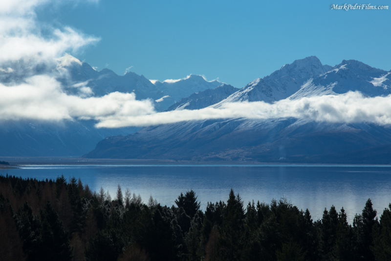 Mountains, Lake, New Zealand, Southern Alps