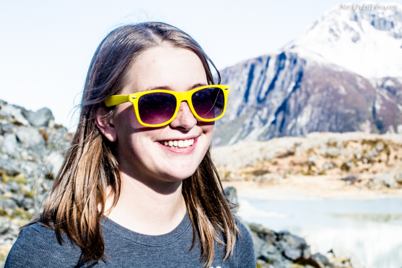 Carrie, Mt Cook, New Zealand, Sun glasses
