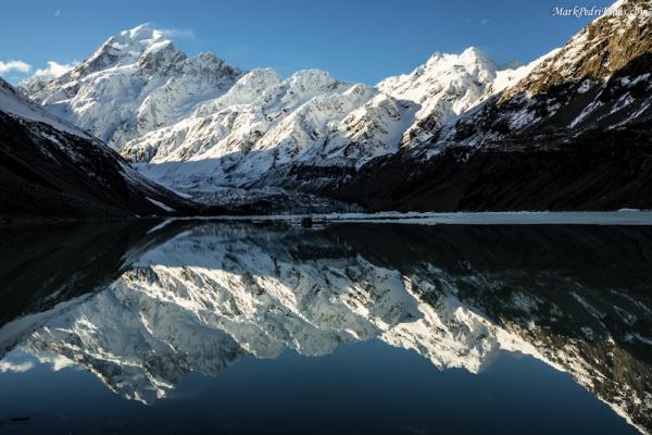 Mt Cook, New Zealand, Mountain, Snow, Peak, Lake