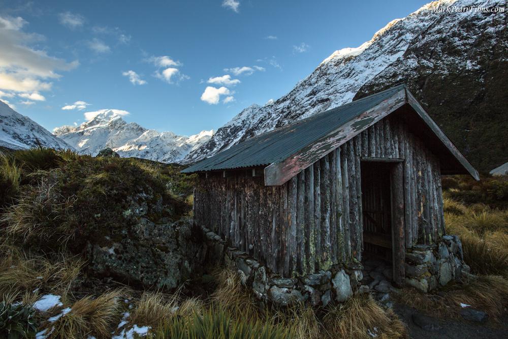 Mt Cook, New Zealand, Mountain, Snow, Peak, Cabin