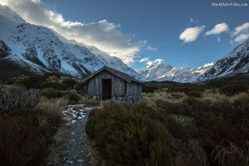 Mt Cook, New Zealand, Mountain, Snow, Peak, Cabin