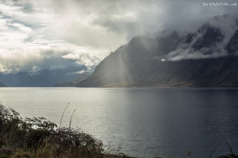 Sun, Lake, Rain, Clouds, NZ