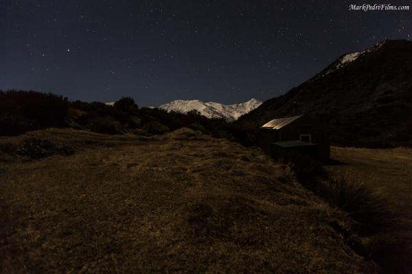 New Zealand, Kaikora, Hut, Mountains