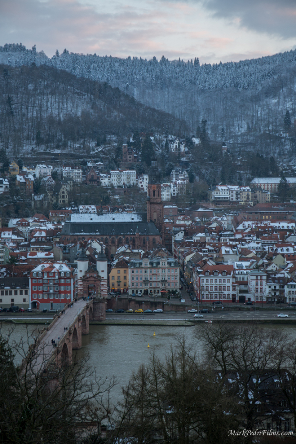 Heidelberg, Germany, Philosophers Way, snow