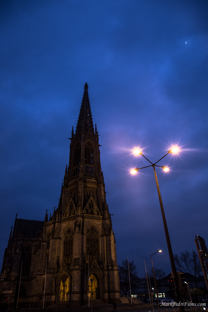 Spyer, Germany, Church, night