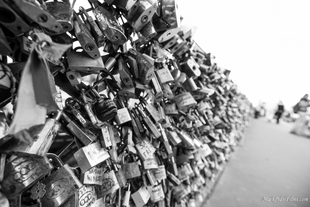 Paris, France, Locks, love, Bridge