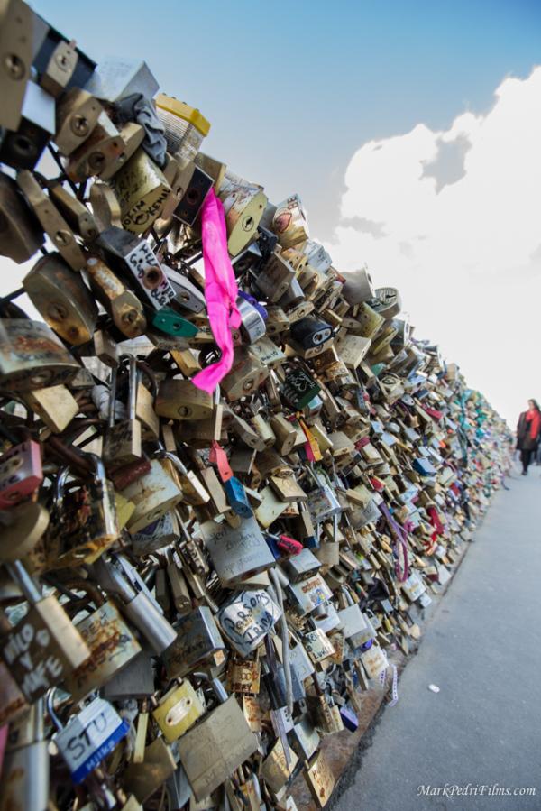 Paris, France, Locks, love, Bridge