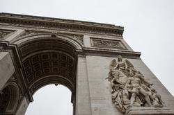 Paris, France, arc de triomphe, bird