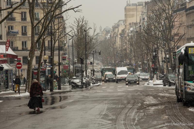 Paris, France, Snow