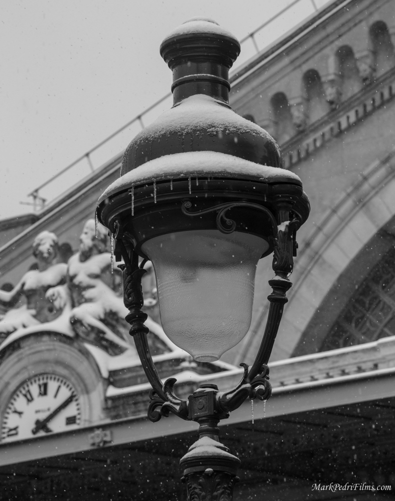 paris, france, snow, ice