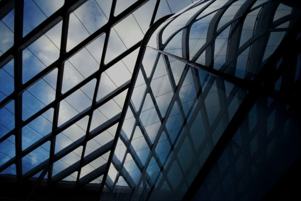 glass roof of Liverpool One mall