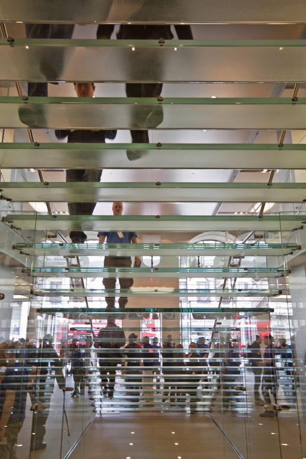 glass steps