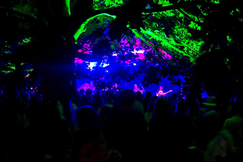 stage in the woods