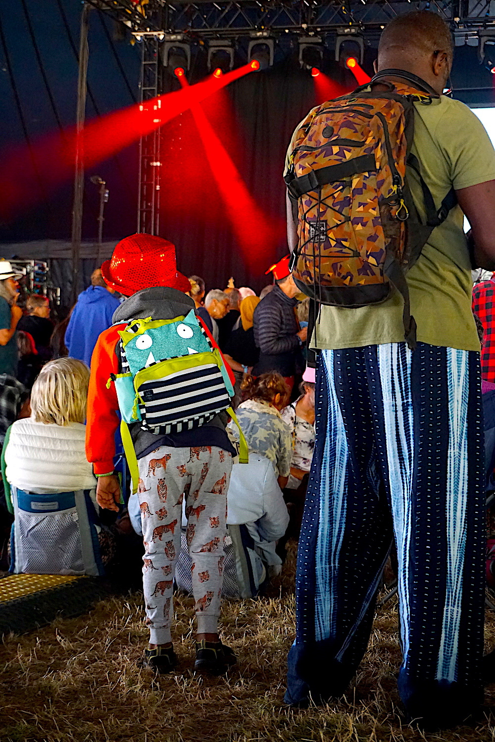 father and son at WOMAD