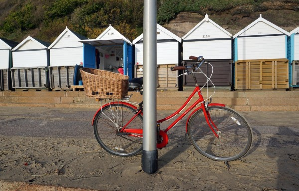 huts and bike