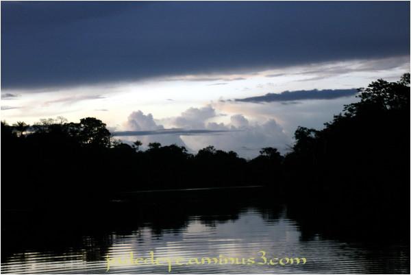 Dusk over the Rio Negro