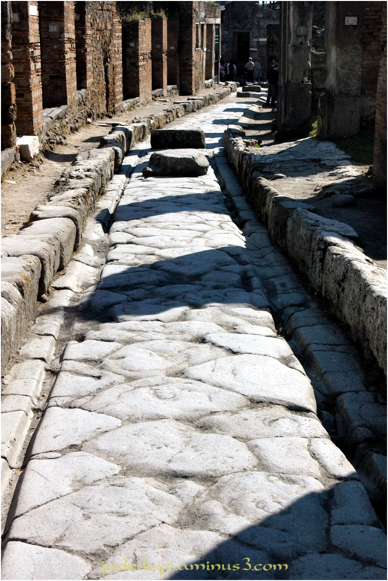 Pompeii Street with Chariot Ruts