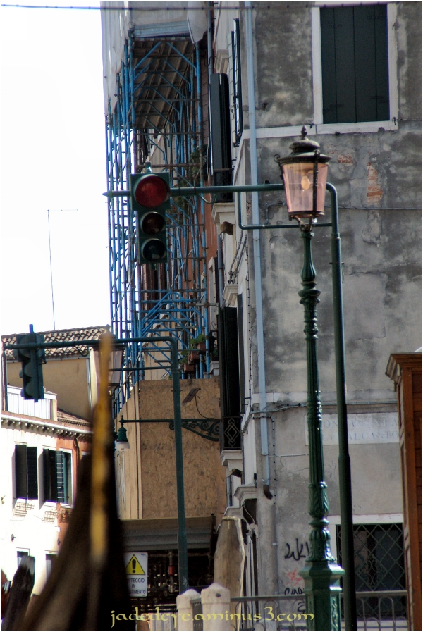 Traffic Lights on the canals of Venice