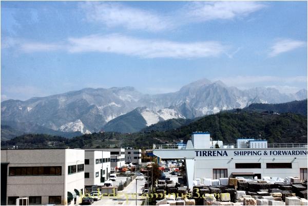 Marble mining in Carrara