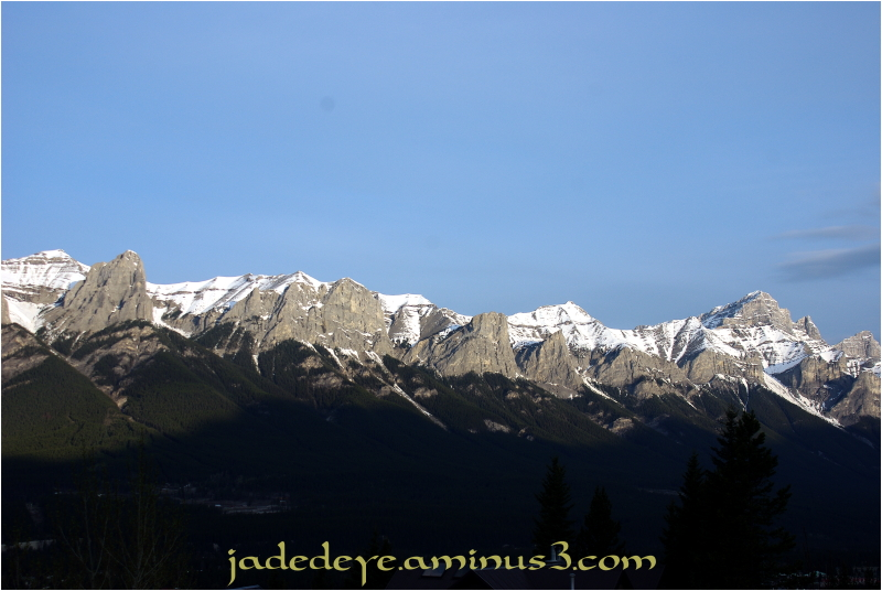 Overlooking the Canmore Town Site