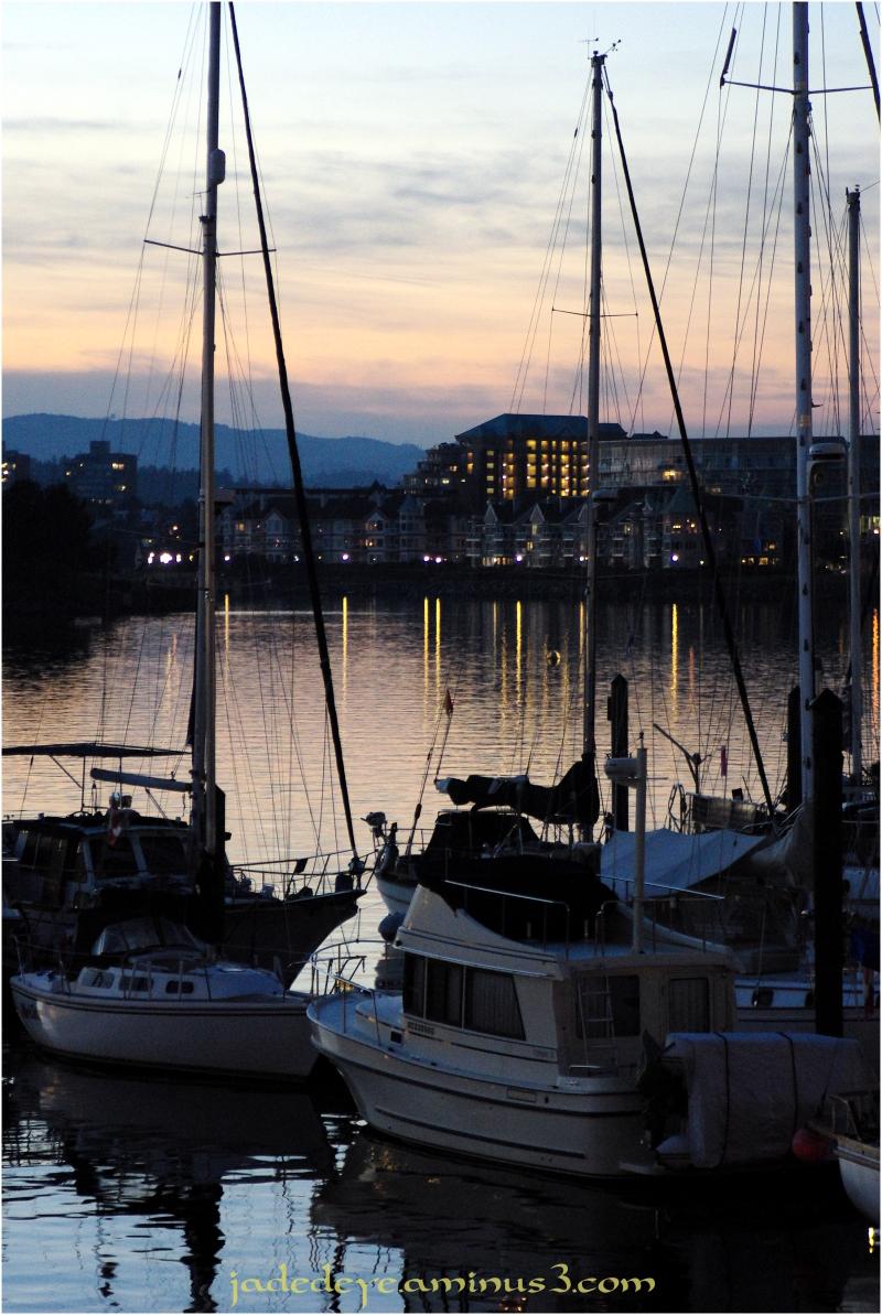 Sunset on Victoria Harbour Marina #1