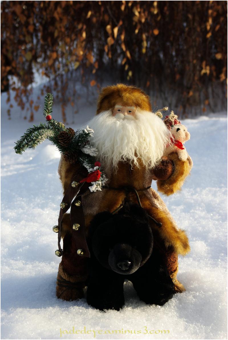 Santa on Bear