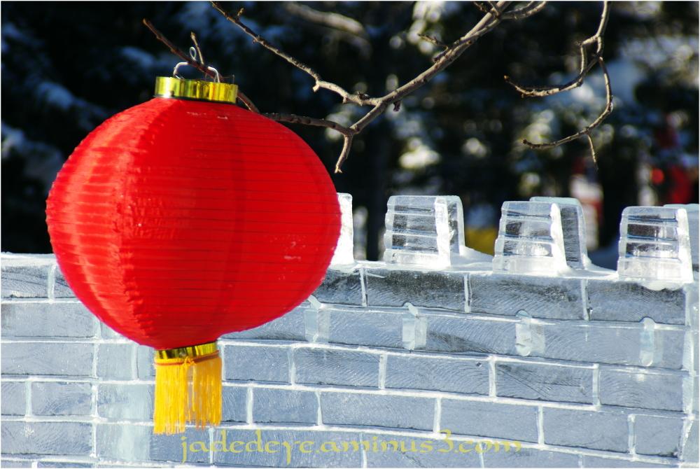 Chinese Lantern & Ice