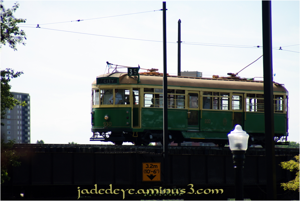 Street Car Across the High Level Bridge