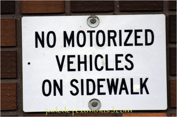 No Vehicles!