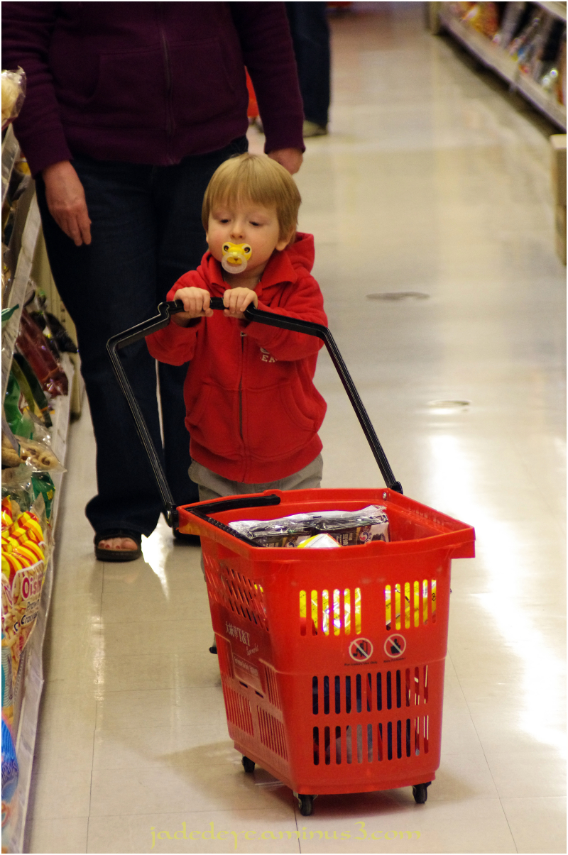 He Does the Shopping
