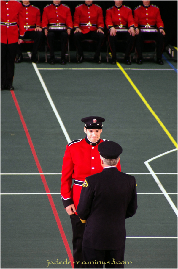 Presentation of Cap & Badge