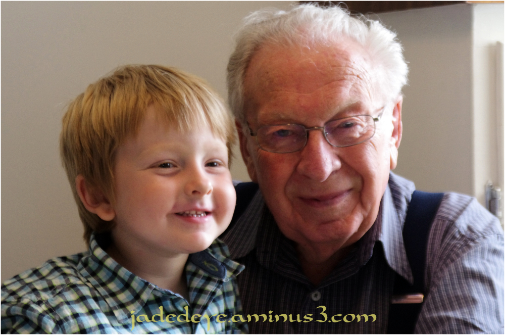 Cael & Great Grandfather Leo
