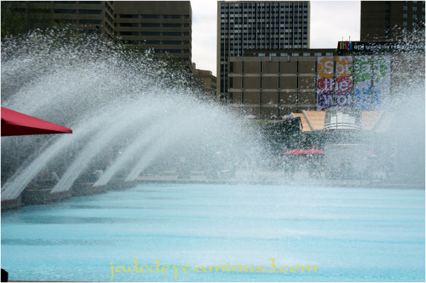 Fountains In Front of Edmonton City Hall