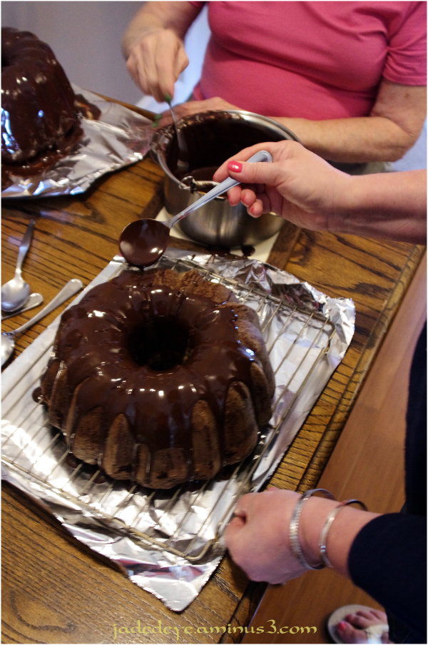 Glazed Tripple Chocolate Pound Cake