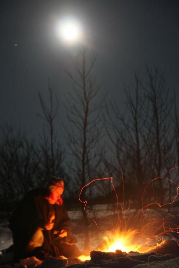 Full moon fireceremony