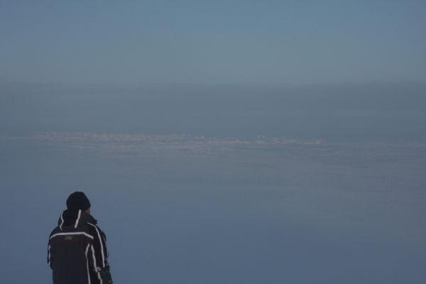 Reykjavik through the fog