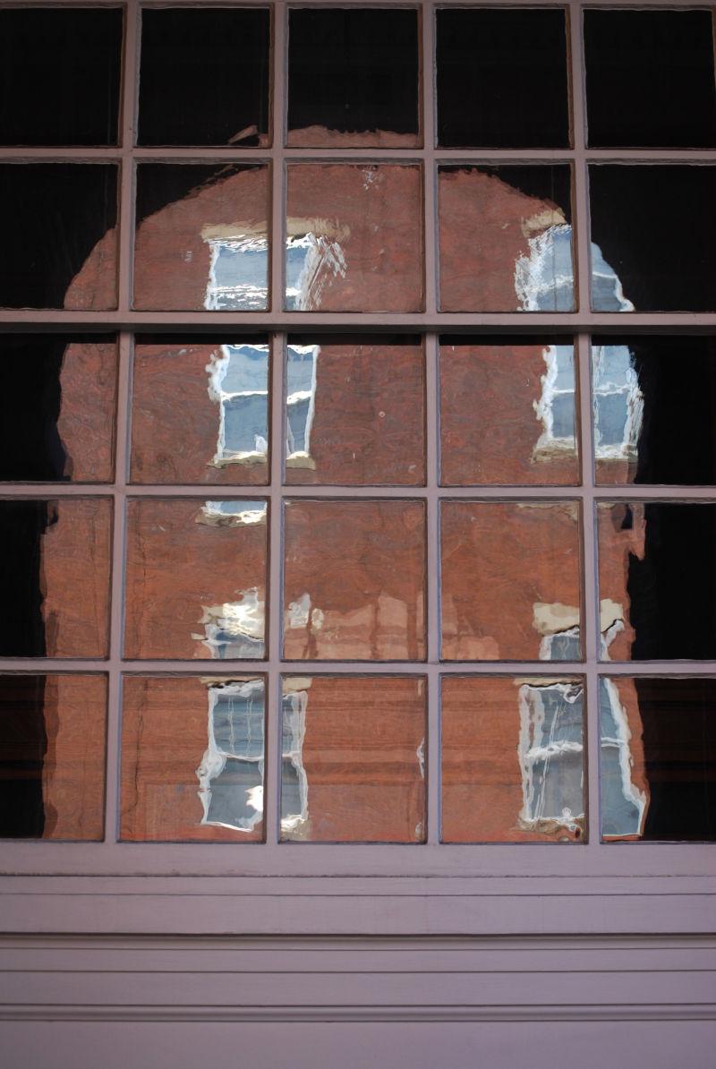 lead pane windows reflection