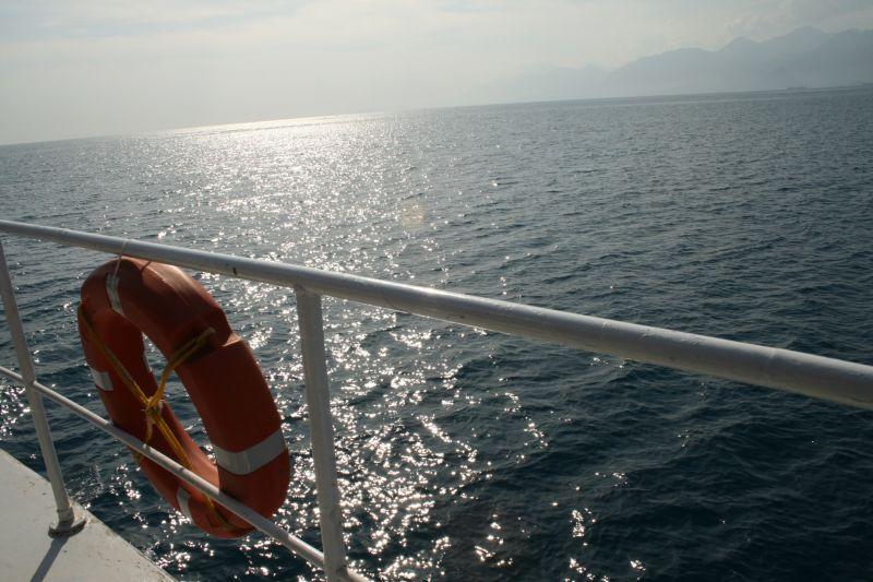 On the sea...