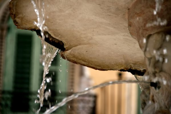 Water dripping