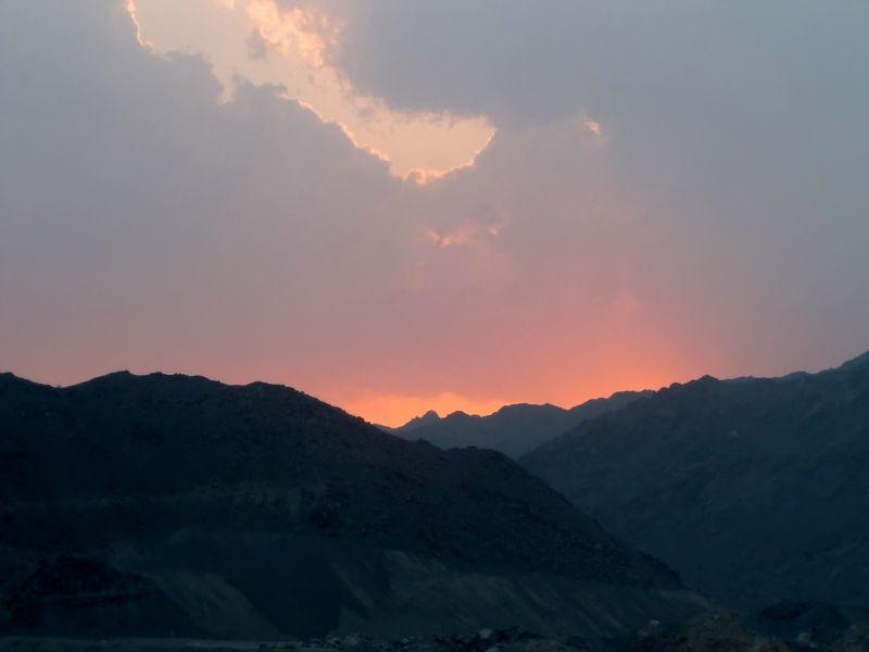 Sunset in Fujairah